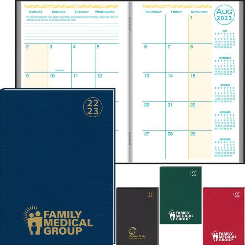 Academic Desk Monthly Planner w/ Morocco Cover 2019-2020