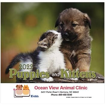 Puppies & Kittens Wall Calendar - Stapled 2020