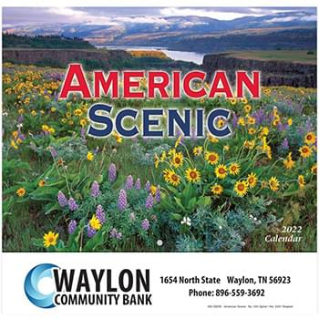 2019 American Scenic Wall Calendar - Stapled