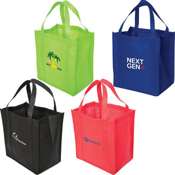 "Non-Woven Economy Tote with 8"" Gusset"