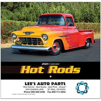Hot Rods Wall Calendar - Stapled 2020