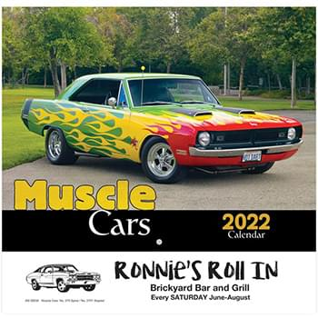 Muscle Cars Wall Calendar - Stapled 2020