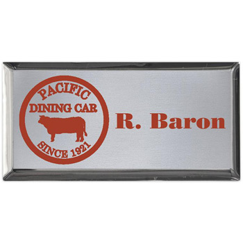 "Aspen Executive Name Badge (Standard Size 1-1/2"" x 3"")"