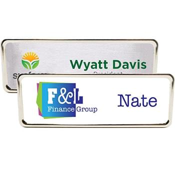 Columbus Express Metal Name Badge (standard 3 x 1)