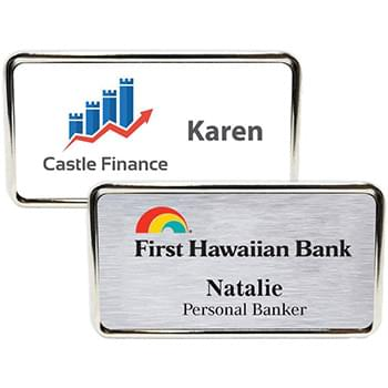 Columbus Express Metal Name Badge (standard 3 x 1-5/8)