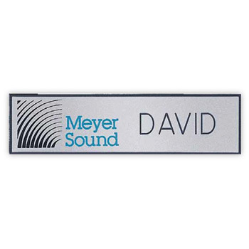 Hollywood Name Badge (Custom sized between 0 and 3 sq. in.)