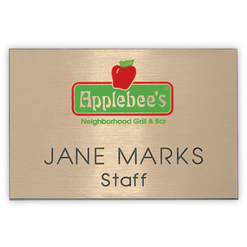"Hollywood Express Name Badge (Standard size 2"" x 3"")"