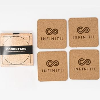 Corkster Square Coaster Set