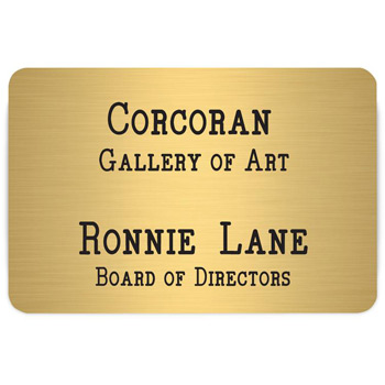 Los Angeles Custom Metal Name Badge (Custom sized between 6 and 9 sq. in.)
