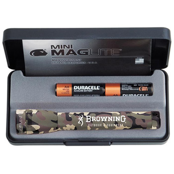 "CAMO Mini Mag-Lite 2 ""AA"" Flashlight"