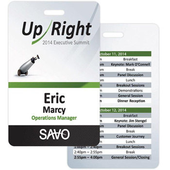 "Nashville Laminated Event Name Badge (Standard Size 2-1/8"" x 3-3/8"", Vertical Orientation)"