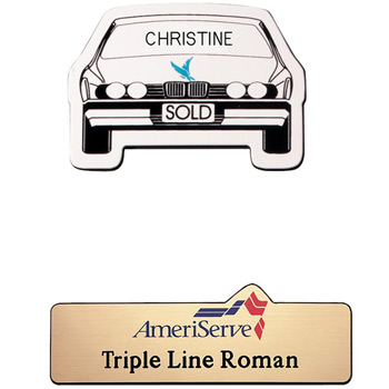 New Orleans Plastic Name Badge (Custom sized between 0 and 3 sq. in.)
