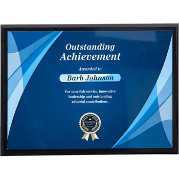 "Sublimated Plaques 12"" x 9"", Horizontal"