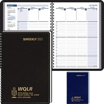 2019 Column-Style Weekly, Wired Desk Planner