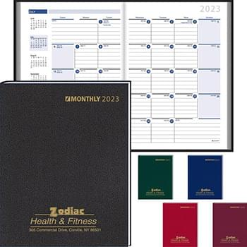 Ruled Monthly Format Stitched to Cover Desk Planner 2020