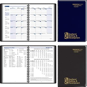 2019 Contractor's Planning Manual Monthly Planner