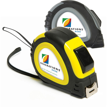 25' Foot Locking Tape Measure with Domed Decal Imprint