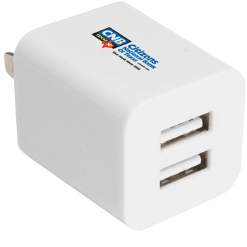 Double USB Wall Power Adapter