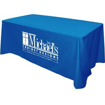 Flat 3-sided Table Cover - fits 6 foot standard table