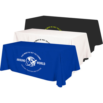4 Sided Budget Polyester Screen Printed Table Cover (Fits 6' Table)