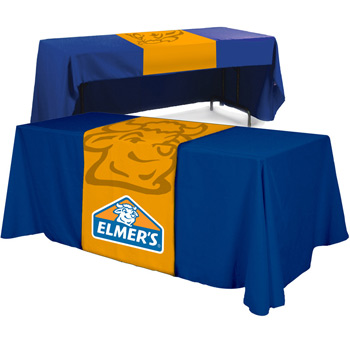 "Full Color Polyester Top Table Runner (Front, Top & 12"" Back)"